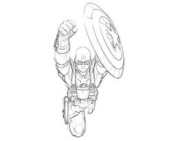 Small Picture Captain America Coloring Pages Free The Avenger Hero Coloring
