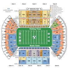 Cougar Stadium Seating Chart Lavell Edwards Stadium Seating Chart