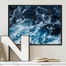 Poster Splashing 30x40 Cm Motiv Wasser See Ozean Meer Natur Foto
