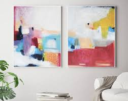 set of 2 abstract large prints acrylic abstract painting giclee of original wall art abstract wall art large abstract art victoriatelier on abstract wall art set of 2 with large abstract art etsy