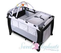 playpen with changing table and bassinet  bassinet decoration