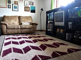 fluffy painted rug