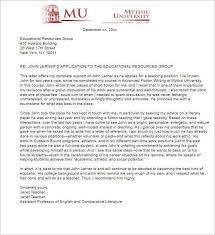 2 Sample Letter of Re mendation For Teaching Position