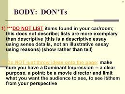 description traits key elements of a descriptive essay o  37 37
