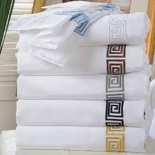 serena cotton greek key 3 piece duvet sets by impressions to enlarge image s