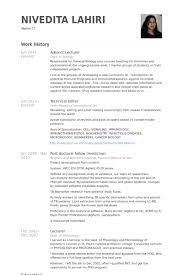 Adjunct Lecturer Resume Samples Visualcv Resume Samples Database