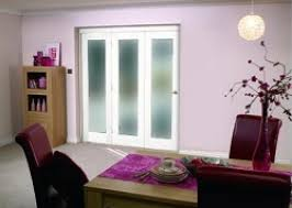 white bifold 3 door system 1800mm 6ft frosted