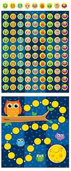 Carson Dellosa Owls Mini Incentive Charts 148009