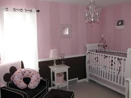 chair rail nursery. Brilliant Nursery Love This Brown Bottom Two Tone Pink Stripes And The Chair Rail Nursery  Green Baby Bedding Room Throughout