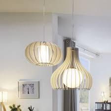 Moderne Pendelleuchte Tindori Aus Holz Click Lichtde