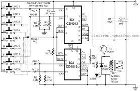 <b>Simple Code Lock</b> Circuit