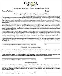 Contract Release Form New 48 Sample Employee Release Forms Sample Templates