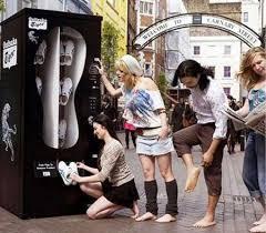 Shoe Vending Machine Impressive Sure Why Not Shoe Vending Machines Geekologie