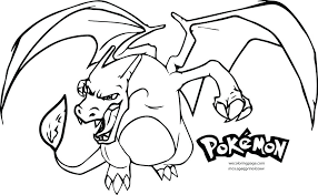 charizard ex coloring pages mega x easy c fun free printable