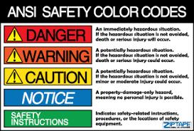Ansi Z535 Color Chart Proper 18c Yada Yada Yada A Cautionary Tale Modern