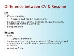 Resume Vs Cover Letter 5 Cv Resume Vs Cover Letter