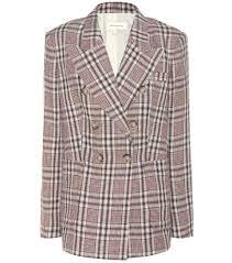 isabel marant étoile janey plaid linen jacket neutrals women isabel marant shoes barneys great