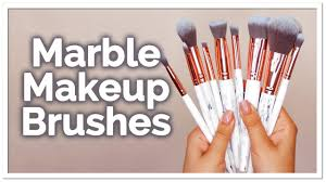 world s best makeup brushes marble and rose gold brush set lily england