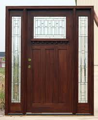 mission style front doorCraftsman Doors with Sidelights mahogany