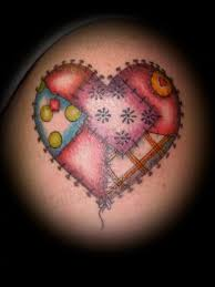Patchwork Heart And Hope Tattoo Pictures to Pin on Pinterest ... & Patchwork ... Adamdwight.com
