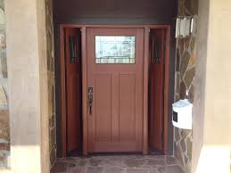 Doors: Awesome Craftsman Front Door With Sidelights, Craftsman ...