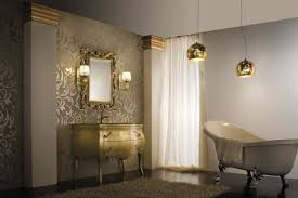 gold bathroom lighting ideas fixtures