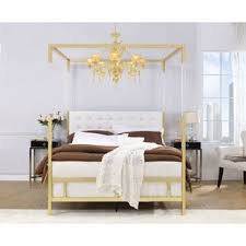 Gold Queen Size Canopy Beds You'll Love in 2019 | Wayfair