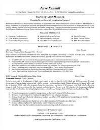 sample transportation management resume