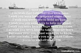 i miss you baby missing you poem