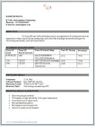 Resume Format For Bba Kantosanpo Com