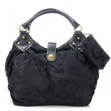 Coach In Signature Medium Black Satchels AZJ