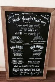 pinterest wedding programs. Chalkboard Wedding Program 23x35 Rustic by ChalkFullofLove