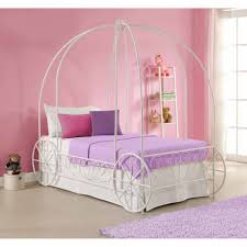Girls&apos FairyTale Twin Loft Bed with Slide White Walmart