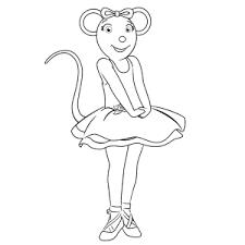Leuk Voor Kids Angelina Ballerina Kleurplaten