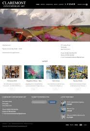 Web Design Mid Wales Claremont Contemporary Art Mid Wales Design