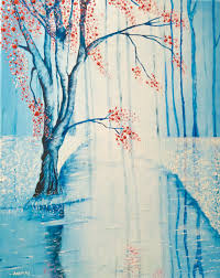 snow in blue 16 x 20 oil painting 300