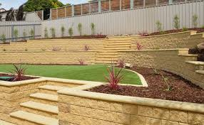 Backyard Retaining Wall Designs Mesmerizing Concrete Block Retaining Walls Adelaide Design Examples