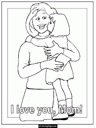 Small Picture Mommy And Daughter ColoringAndPrintable Coloring Pages Free Download