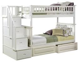 Wooden Bunk Beds With Storage 9847