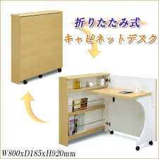foldable office desk cabinet desks folding smart compact flat screen luxury storage home uk