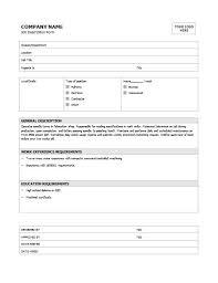Job Description Template Word Best Simple Job Description Template Microsoft Word Templates Famous Thus