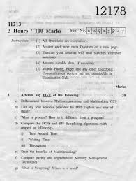 maharashtra state board of technical education msbte question  msbte question paper for diploma in computer engineering group fifth semester subject operating system 12178