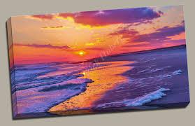 peaceful sunset beach photo peaceful sunset canvas print