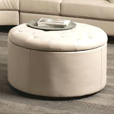 round ottoman coffee table coaster cream simple design ottomans tables leather storage with concrete round ottoman coffee table