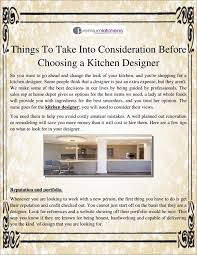 Cost To Hire A Kitchen Designer Things To Take Into Consideration Before Choosing A Kitchen