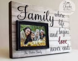 Family Where Life Begins And Love Never Ends Frame, Family Picture Frame,  Wedding Gift