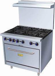 gas range. Gas Range W/6 Burners And Oven - Natural Gas: Restaurant Equipment Supplies Online : Depot