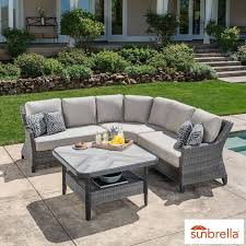 sunvilla marina 4 piece sectional patio