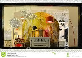 Show Window Lighting Luxury Lighting Shop Window Stock Photo Image Of Lamp