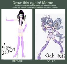 Draw this again' meme by desolate-oneechan on DeviantArt via Relatably.com